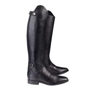 læderridestøvler med lynlås