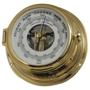 Schatz Midi barometer i lakeret messing