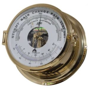 Schatz Royal barometer:termometer i lakeret messing