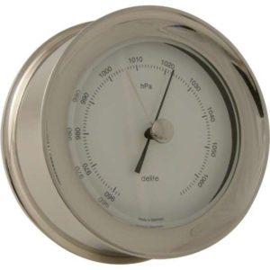 Zealand barometer i poleret rustfrit stål