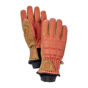 HESTRA HENRIK LEATHER PRO SKIHANDSKER FLAME RED:CORK
